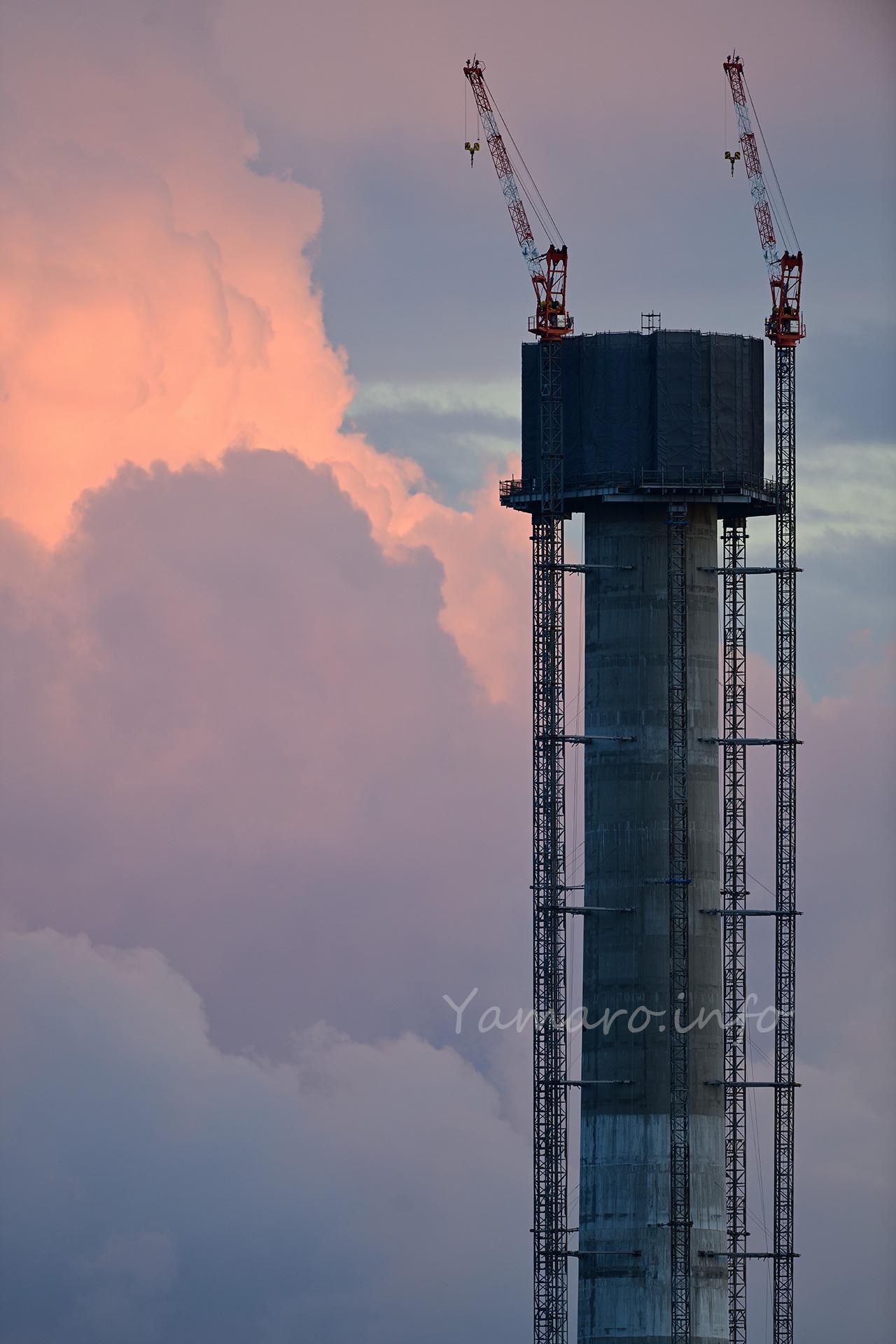 光が丘清掃工場の煙突